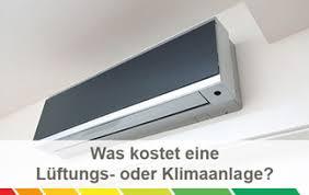 klimagerät für schlafzimmer kosten für klimaanlagen und lüftungsanlagen im überblick