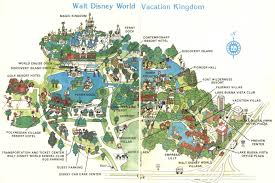 walt disney resort map theme park brochures walt disney vacation kingdom theme