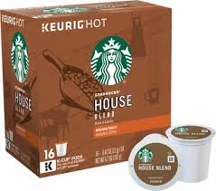 keurig starbucks house blend k cup pods 16 pack white 9516