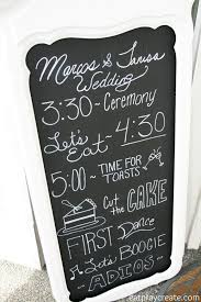 wedding chalkboard ideas wedding timeline chalkboard sign diy wedding series eat pray