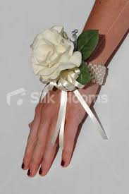 wedding wrist corsage shop simple ivory fresh touch wedding wrist corsage