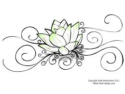 lotus tribal pencil and in color lotus tribal