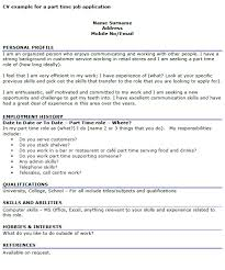 Resume For A Part Time Job by First Time Resume Templates Template Design Resume Templates