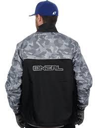 mtb rain jacket oneal black grey 2018 shore ii mx rain jacket oneal