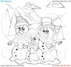 snowman family coloring pages royalty free rf clipart