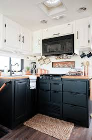 Rustic Modern Kitchen Cabinets Rustic Modern Rv Tour Mountainmodernlife Com