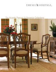 drexel heritage dining room set drexel the accents francais u0026 provence collection by cadieux