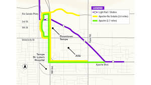 Valley Metro Light Rail Map by Tempe Streetcar Named Among Future Federal Projects Mass Transit