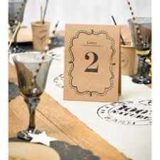 numero table mariage plan de table vintage kraft de 1 à 10 les 10 mariage vintage