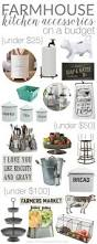 farmhouse kitchen accessories on a budget awesome kitchen