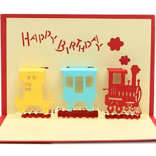 handmade happy birthday 3d greeting card birthday party pop up