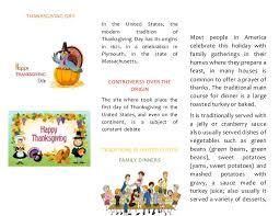 brochure thanksgiving day folletos sobre acción de gracias