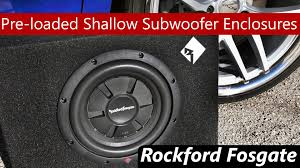 2015 rockford fosgate pre loaded shallow subwoofers r2s 1x10 and