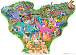 Walt Disney World Resorts Map by