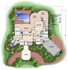 colored house floor plans room design mediterranean style mansion