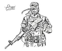 snake metal gear solid 4 by druggedguardian on deviantart