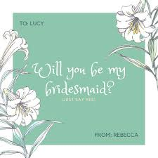 bridesmaid invitation card customize 42 be my bridesmaid invitation templates online canva