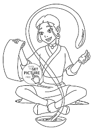 from the legend of korra coloring pages for kids printable free