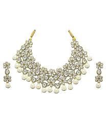 danglers earrings design zaveri pearls white alloy designer kundan necklace set with