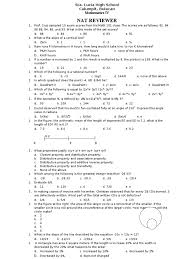Science Worksheets Grade 7 Nat Reviewer In Math Triangle Sine