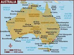 australia map of cities map of australia