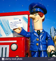 vintage image postman pat cartoon character blackpool