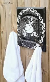 diy a kitchen cabinet door into a towel holder shoppe no 5