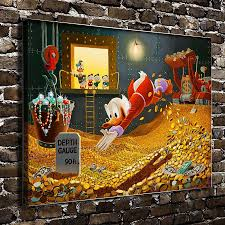 aliexpress com buy s1344 donald duck scrooge mcduck cartoon film aliexpress com buy s1344 donald duck scrooge mcduck cartoon film hd canvas print home decoration living room bedroom wall pictures art painting from