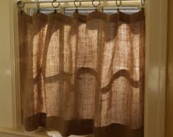 Cafe Curtains For Bathroom Linen Cafe Curtains Etsy