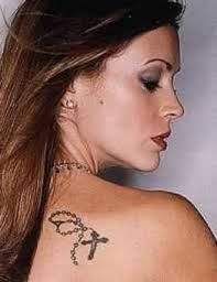 rosary on shoulder unique tattoos pinterest