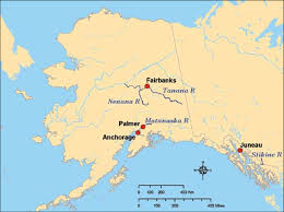 Alaska Rivers images The map of alaska shows the flood plains of three rivers the png