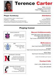 Sample Athletic Resume by Soccer Cv Resume