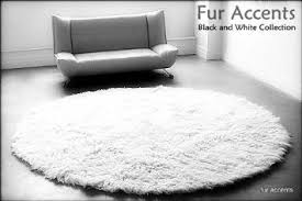 intricate round fur rug plain design black bear round faux fur rug