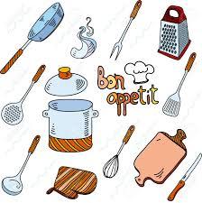 Bon Appetit Kitchen Collection Hand Drawn Doodle Sketch Kitchen Utensils For Cooking Bon Appetit