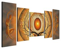 home decor paintings for sale wieco art orange trees dancing 5 piece modern stretched and