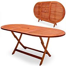 Folding Wooden Garden Table Deuba Wooden Garden Table Alabama Fsc Certified Eucalyptus