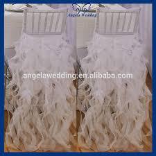 white wedding chair covers ch010a wholesale cheap chiffon and organza white ruffled wedding