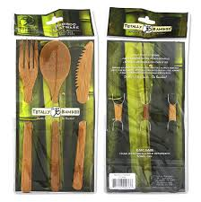 Cool Flatware Amazon Com Totally Bamboo Flatware Set 100 Bamboo Organically