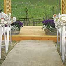 isle runner country charm burlap aisle runner for outdoor weddings