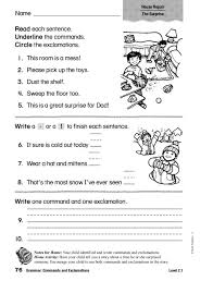 commands and exclamations worksheets free worksheets library