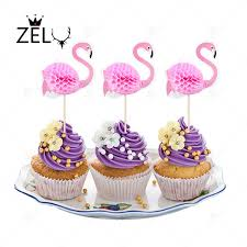 m m cake toppers zelu 2pcs flamingo party cupcake toppers birthday cakes topper
