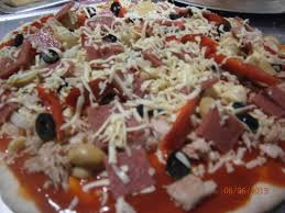 cheesy bacon pizza tuna overload and pandesal bakers pantry