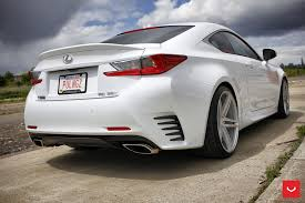 new lexus coupe rcf price white lexus rcf on vossen wheels has the look of a cult car