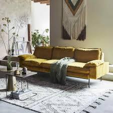 Retro Sofa Bed Retro Sofa Ochre 4 Seater Hk Living