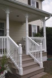 vinyl railing and porch post pictures hoover fence company