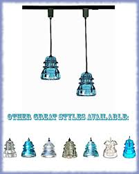 Pendant Lights For Track Lighting Blue Glass Track Light Blue Track Lighting By Divinediscoveries