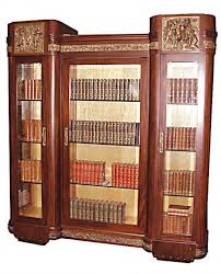 Curio Cabinets Pair Matched Pair Of Italian Mahogany Curio Cabinets With Cast Bronze