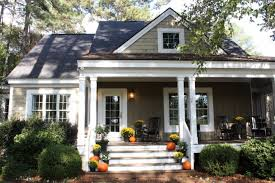 Pictures Of Cottage Style Homes Front Porch Decorated For Fall Love Her Cottage Style Home Built