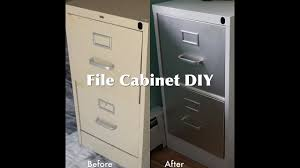 How To Paint A Metal File Cabinet Diy File Cabinet Makeover Youtube