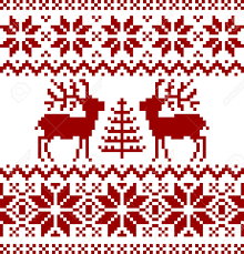 christmas norwegian pattern royalty free cliparts vectors and